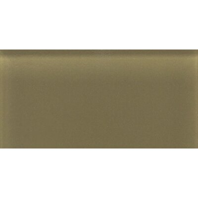 "Daltile Glass Reflections 4-1/4"" x 8-1/2"" Glossy Wall Tile in Olive Oil"