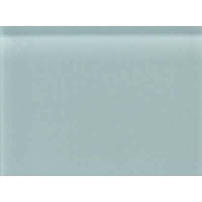 "Daltile Glass Reflections 11-1/2"" x 15-1/2"" Glossy Random Interlocking Accent in Whisper Green"