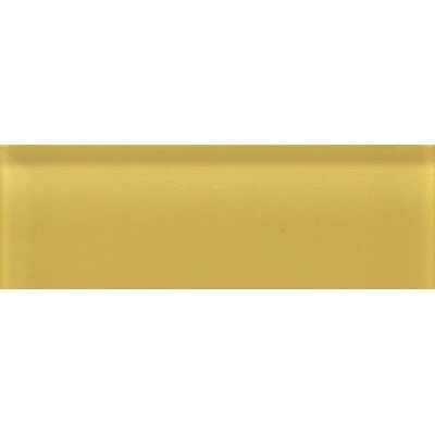 "Daltile Glass Reflections 4-1/4"" x 12-3/4"" Glossy Wall Tile in Honey Bee"