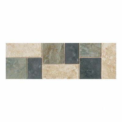 "Daltile Continental Slate 12"" x 4"" Decorative Accent in Multi Deco"