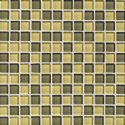 Daltile Glass Reflections Glossy Interlocking Accent Blend in Wheat Field