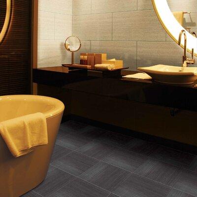 """Daltile Fabrique 24"""" x 24"""" Unpolished Field Tile in Noir Linen"""