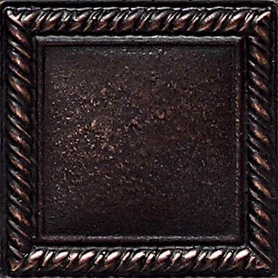"Daltile Ion Metals 2"" x 2"" Decorative Rope Accent Tile in Oil Rubbed Bronze"