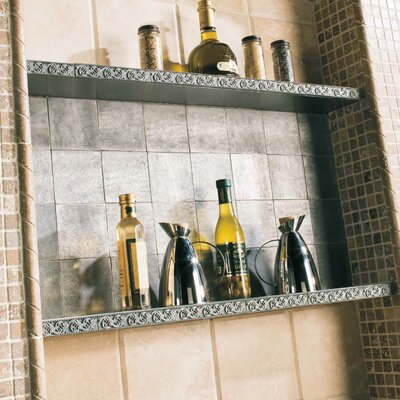 "Daltile Massalia 6"" x 1"" Decorative Frieze Accent Strip in Pewter"