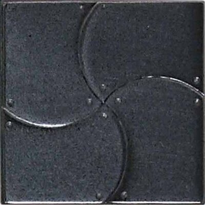 "Daltile Urban Metals 2"" x 2"" Arc Decorative Dot in Gunmetal"