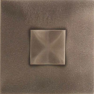 "Daltile Urban Metals 2"" x 2"" Geo Decorative Dot in Bronze"