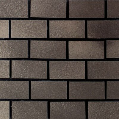 "Daltile Urban Metals 2"" x 1"" Brick Joint Decorative Accent in Bronze"