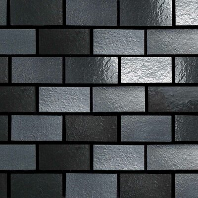 "Daltile Urban Metals 2"" x 1"" Brick Joint Decorative Accent in Gunmetal"