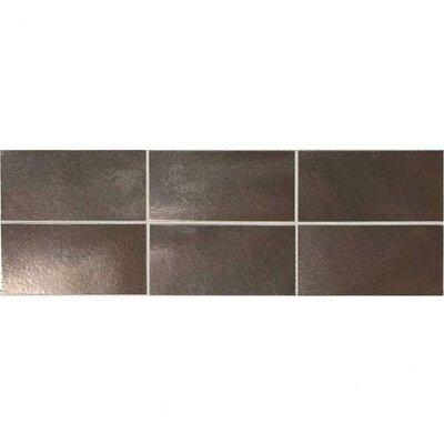 "Daltile Urban Metals 4"" x 2"" Straight Joint Mosaic in Bronze"