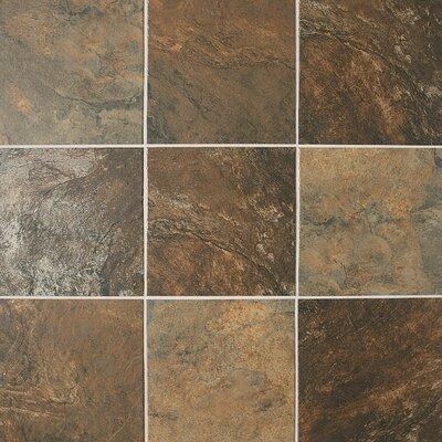 """Daltile Franciscan Slate 18"""" x 18"""" Unpolished Field Tile in Terrain Marrone"""