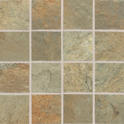 "Daltile Franciscan Slate 3"" x 3"" Unpolished Mosaic Tile in Woodland Verde"