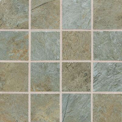 "Daltile Franciscan Slate 11"" x 11"" Unpolished Mosaic Tile in Coastal Azul"