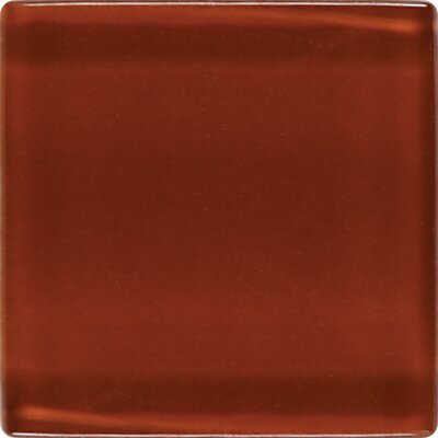 "Daltile Isis 12"" x 12"" Glass Mosaic Tile in Brick Dust"
