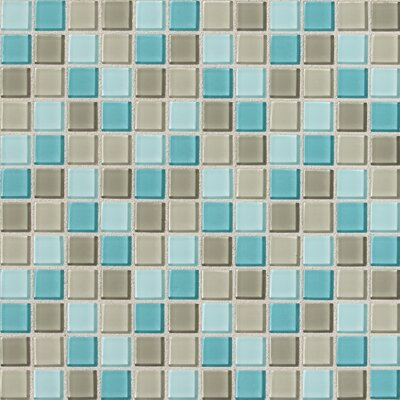 "Daltile Isis 1"" x 1"" Glass Mosaic Tile in Whisper Blend"