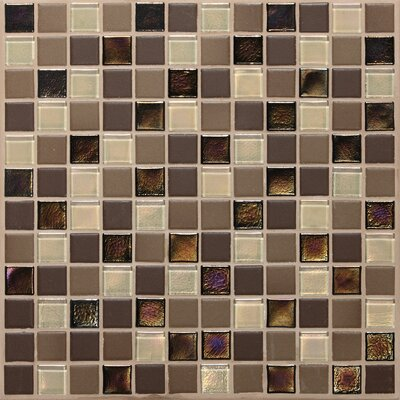 "Daltile Keystones Blends 1"" x 1"" Porcelain with Oceanside Glass Mosaic Tile in Treasure Island"