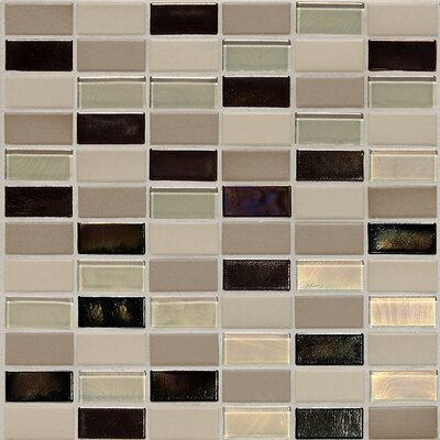"Daltile Keystones Blends 12"" x 12"" Straight - Joint Porcelain with Oceanside Glass Mosaic Tile in Sunset Cove"