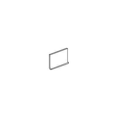 "Daltile Modern Dimensions 8.5"" x 4.25"" Flat Top Cove Base Tile Trim in Arctic White"