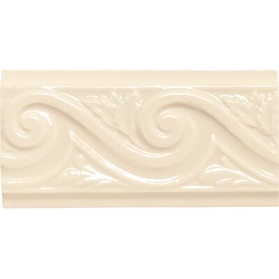 "Daltile Rittenhouse Square 6"" x 3"" Wave Decorative Accent in Kohler Almond"