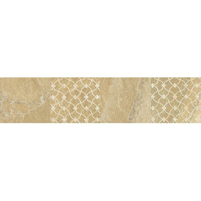 "Daltile Ayers Rock 13"" x 3"" Unpolished Decorative Border in Golden Ground"