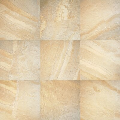 "Daltile Ayers Rock 20"" x 13"" Unpolished Field Tile in Solar Summit"