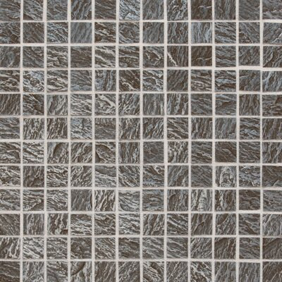 "Daltile Metal Ages 12"" x 12"" Glazed Metal Mosaic in Clefted Pewter"