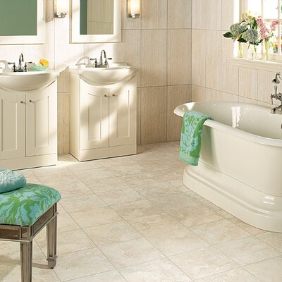 "Daltile San Michele 12"" x 12"" Cross - Cut Field Tile in Crema"