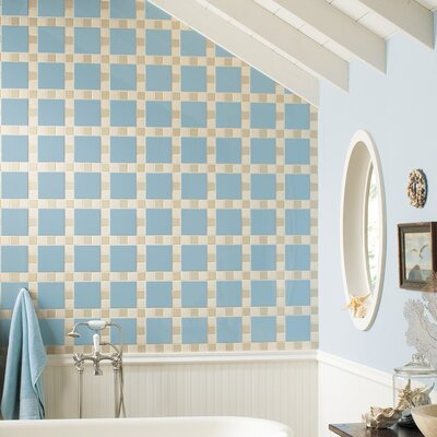"Daltile Permatones 2"" x 2"" Plain Mosaic Field Tile in Matte Almond"