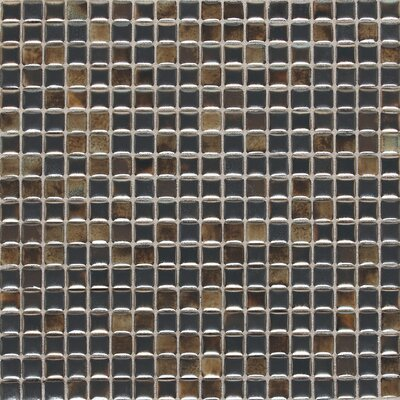 "Daltile Fashion Accents 12"" x 12"" Glazed Shimmer Illumini Mosaic in Umber"