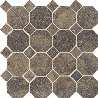Aspen Lodge Mosaic Field Tile in Midnight Blaze