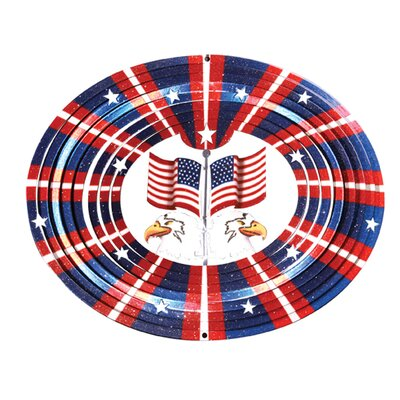 Designer 3D Eagle Flag Wind Spinner