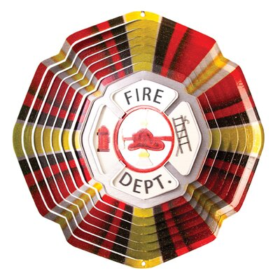 Iron Stop Designer Fire Department Wind Spinner