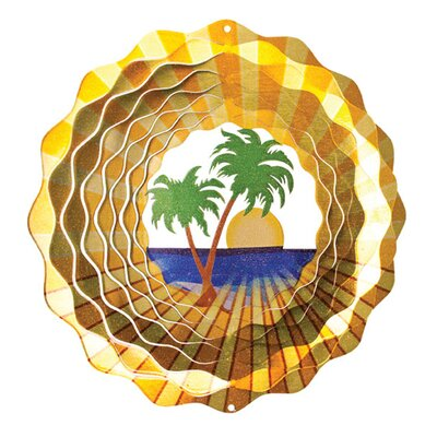Designer Palm Tree Wind Spinner