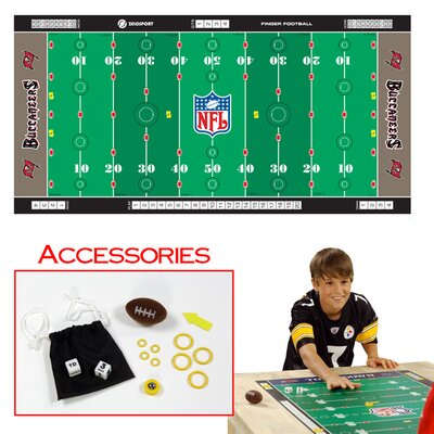 Zelosport NFL Licensed Finger Football Game Mat