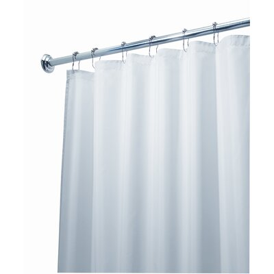 InterDesign EVA Frost Extra Long Shower Curtain/Liner in White