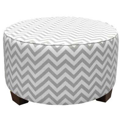 Zig Zag Fabric Cocktail Ottoman
