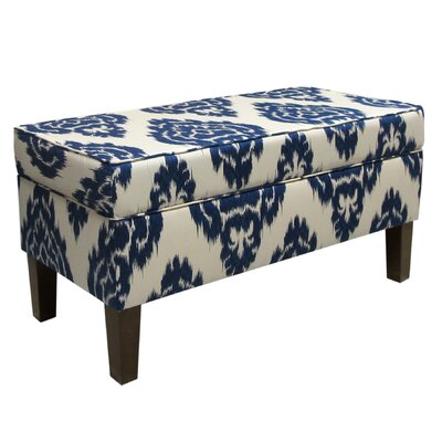 Skyline Furniture Diamonds Fabric Storage Bench