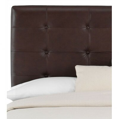 Skyline Furniture Tufted Leather Upholstered Headboard