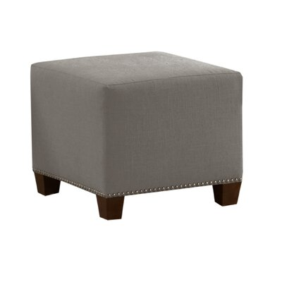 Skyline Furniture Linen Nail Button Ottoman