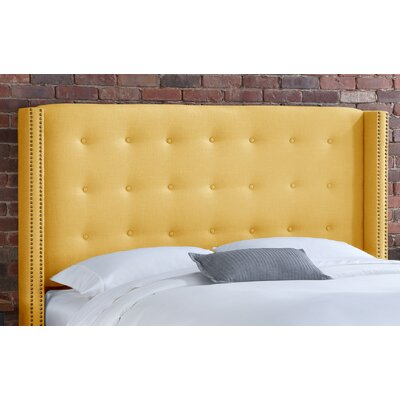 Nail Button Tufted Upholstered Headboard