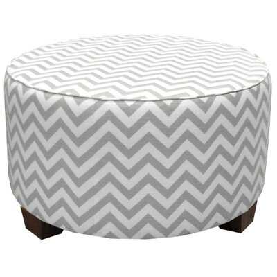 Skyline Furniture Zig Zag Fabric Cocktail Ottoman