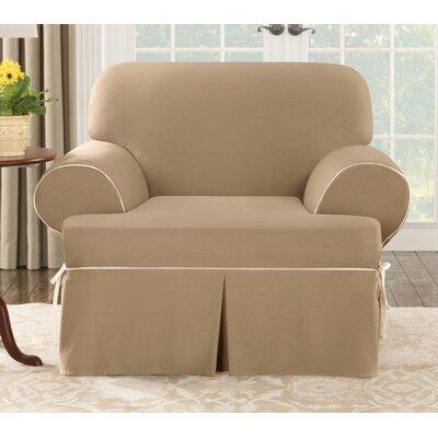 Sure Fit Cotton Duck Club Chair T Cushion Slipcover