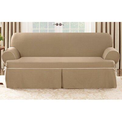 Cotton Duck Sofa T Cushion Slipcover Wayfair