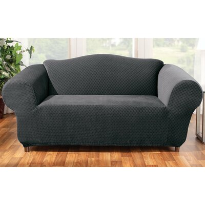 Stretch Stone Loveseat Slipcover