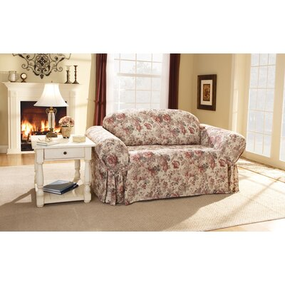 Sure-Fit Chloe Floral Loveseat Skirted Slipcover