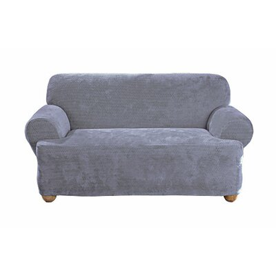 Stretch Royal Diamond T-Cushion Loveseat Slipcover