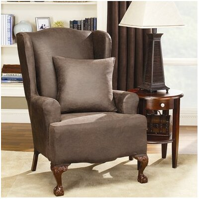 sure fit stretch leather wing chair slipcover reviews