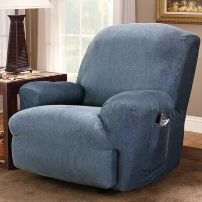 Sure-Fit Stretch Stripe Recliner Slipcover
