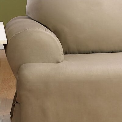 Cotton Duck Sofa T-Cushion Slipcover