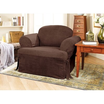 Sure-Fit Soft Suede Club Chair T-Cushion Slipcover