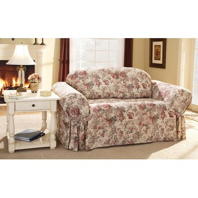 Chloe Floral Sofa Skirted Slipcover
